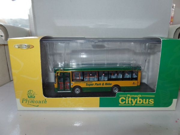 CMNL UKBUS3019 Dennis Dart Plymouth Citybus Park & Ride Yellow Green NM